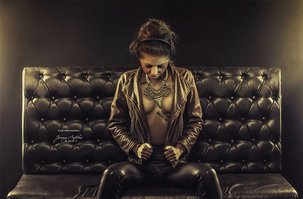 Katie Rowell In Leather