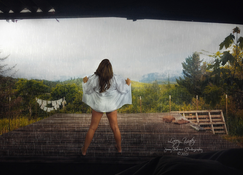Lacey Yates Airing It Out On Porch In The Rain