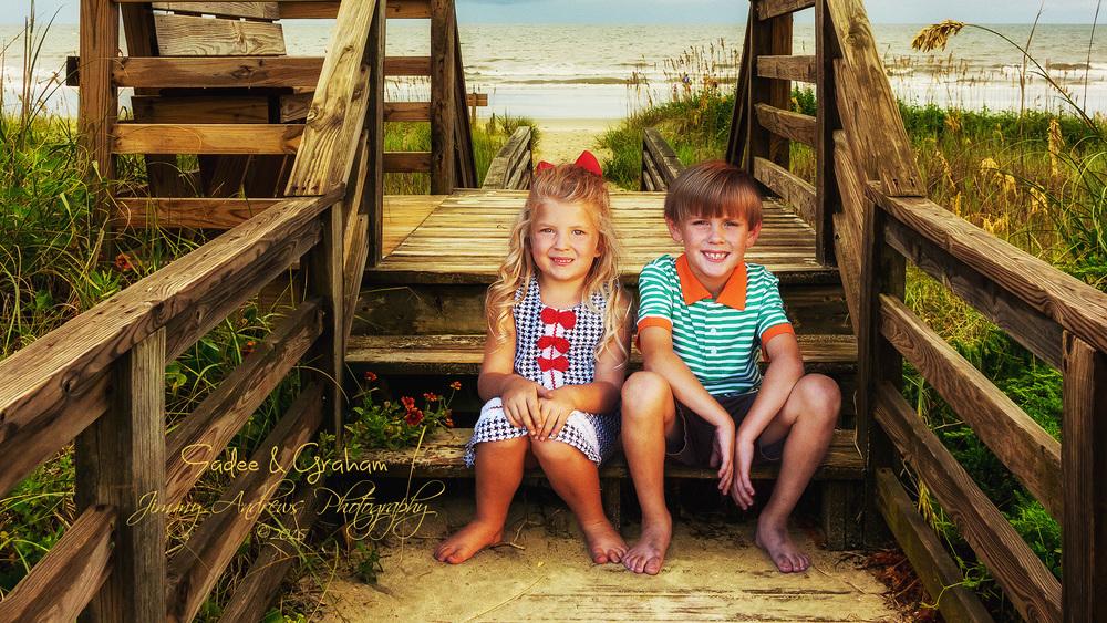 Sadee and Graham On Beach Boardwalk