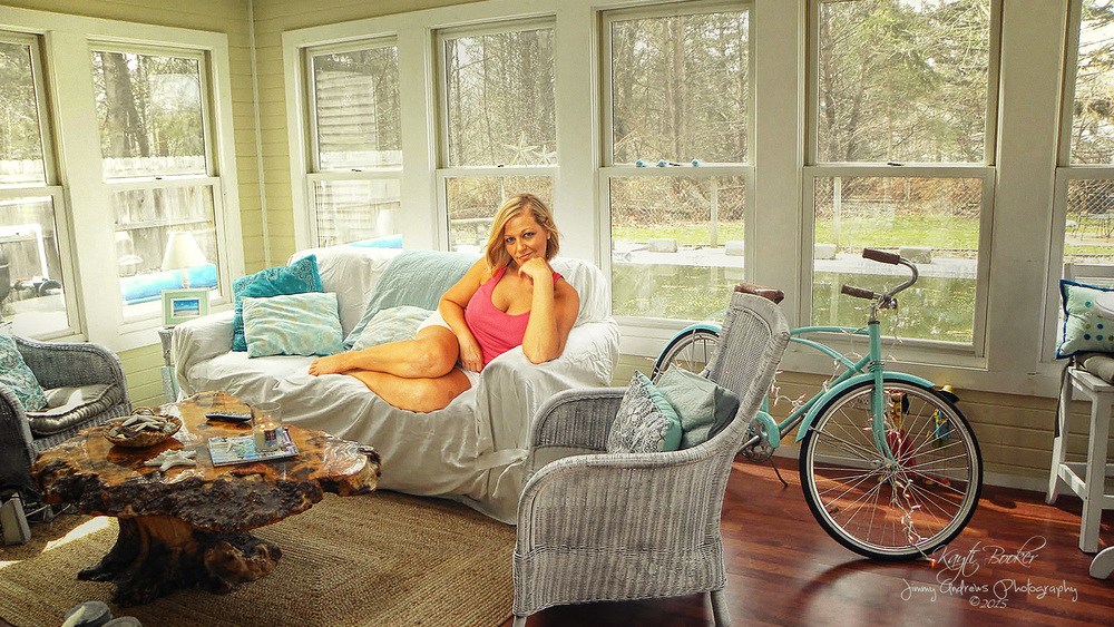 Kayti Booker On Cottage Couch