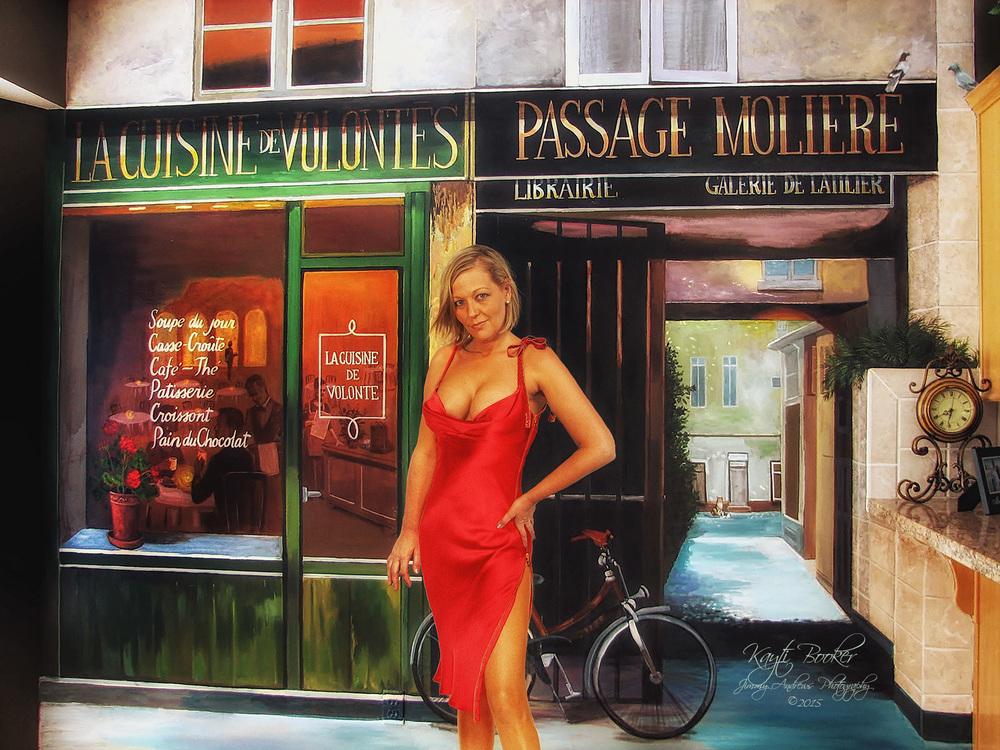 Kayti In Front of Paris Cafe