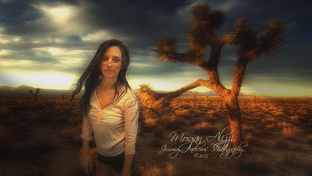 Morgan Alizzi In Morning Desert Wind
