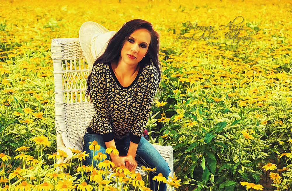 Morgan Alizzi In Field Of Yellow Daisies
