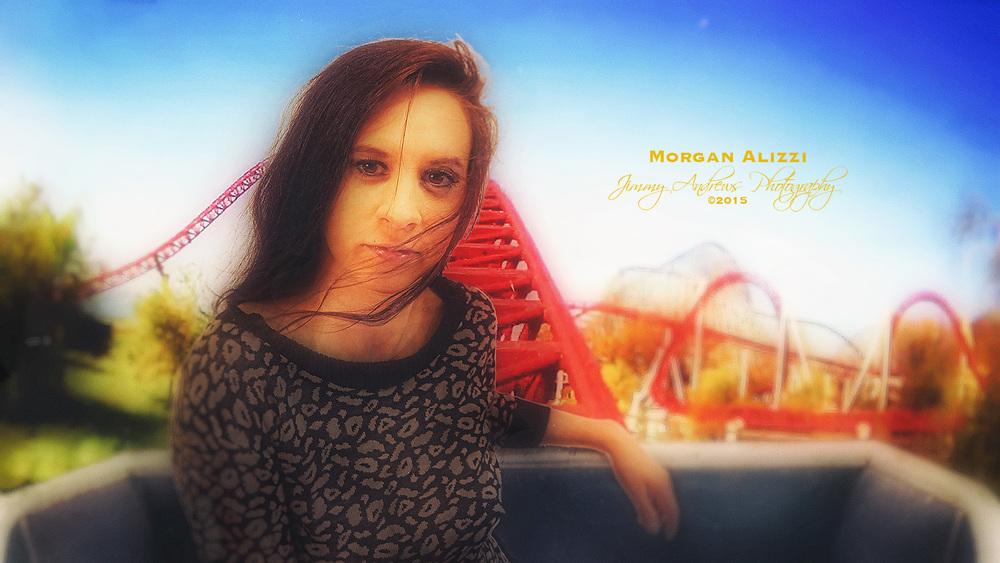 Morgan Alizzi On Roller Coaster