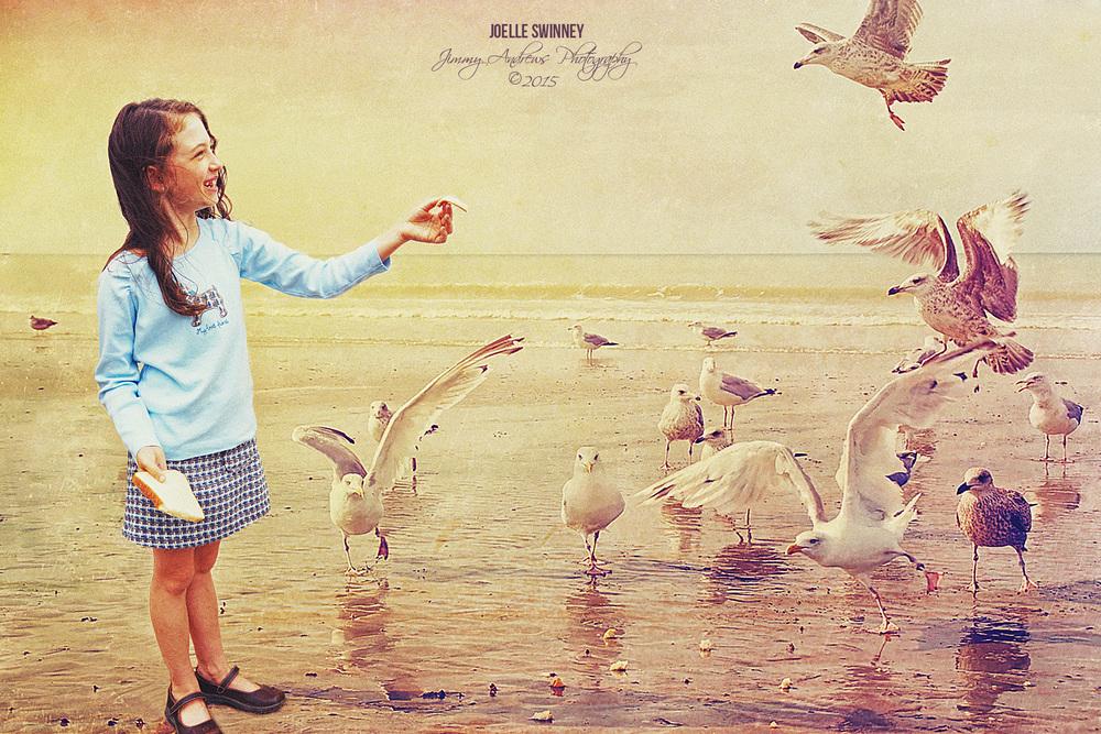 Joelle Swinney Feeding The Seagulls