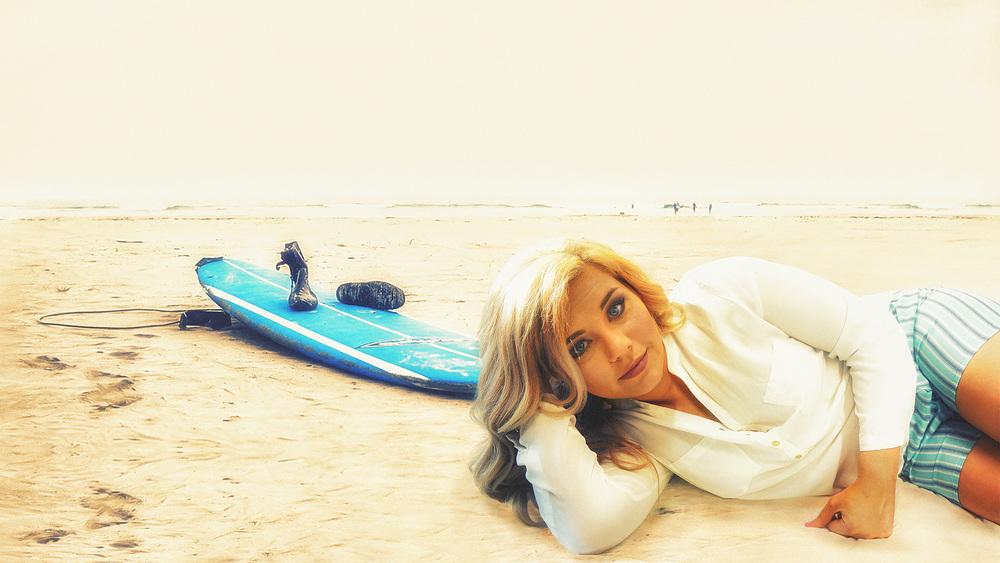 Jada Crain Laying On Beach