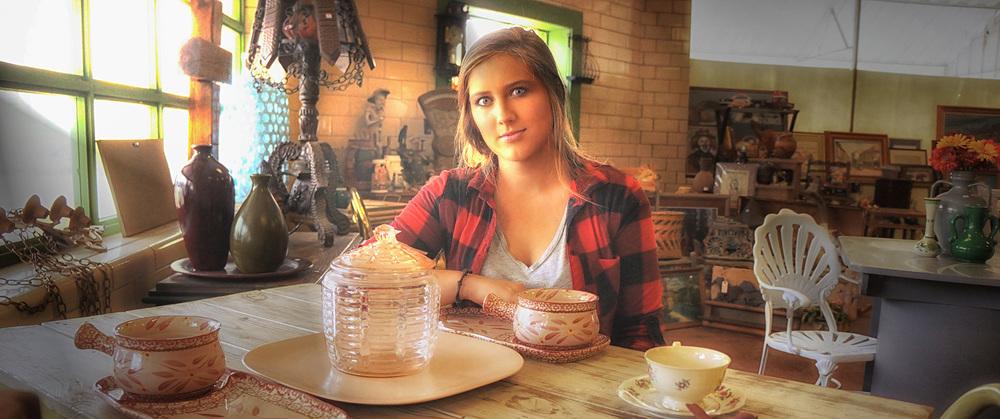Marissa Massey At Flea Market Table