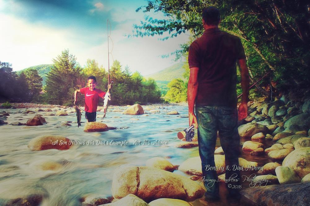 Bentley Fishing With Dad