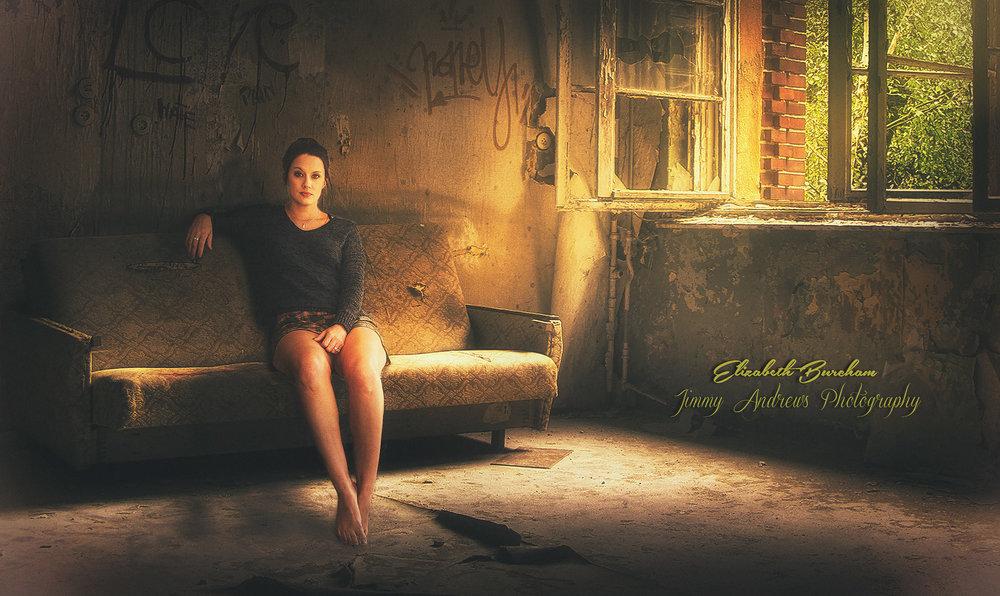 Elizabeth Burcham In Abandoned House