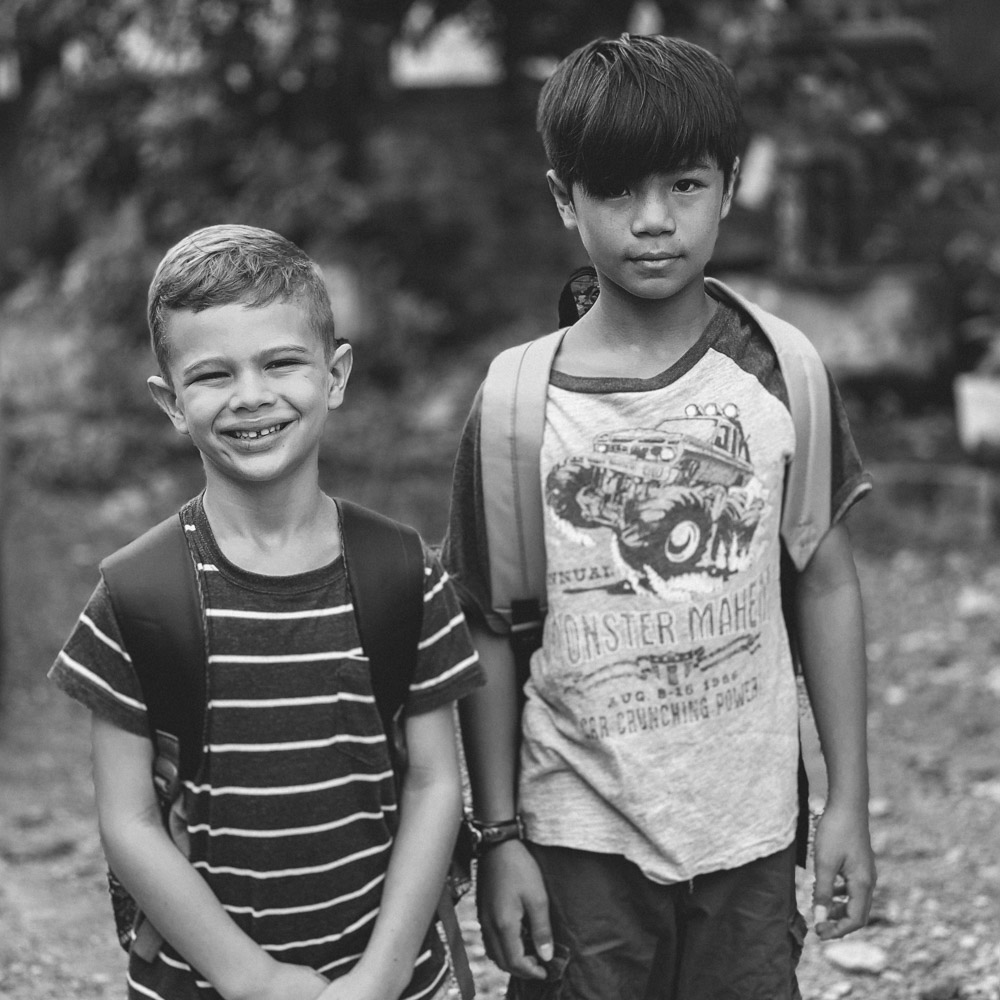 Schooling - Schooling —Aaron and Caleb attend an international school in Kampot and Aaron also studies Khmer in the afternoons at a separate location. Next year we will be starting Jack in preschool. We want to raise an additional $500 of monthly support to supplement these growing school costs.