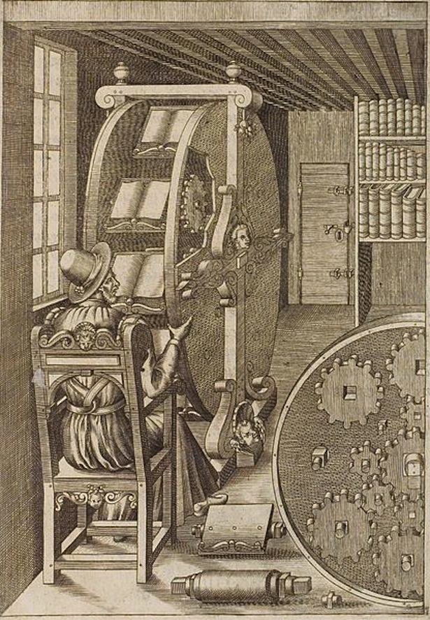 Le diverse et artificiose machine del Capitano Agostino Ramelli , via Wikimedia Commons