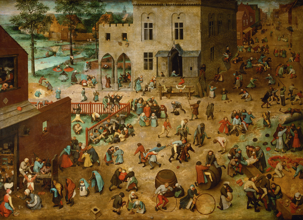 Children's Games, Pieter Bruegel the Elder, Oil on Panel, 1560