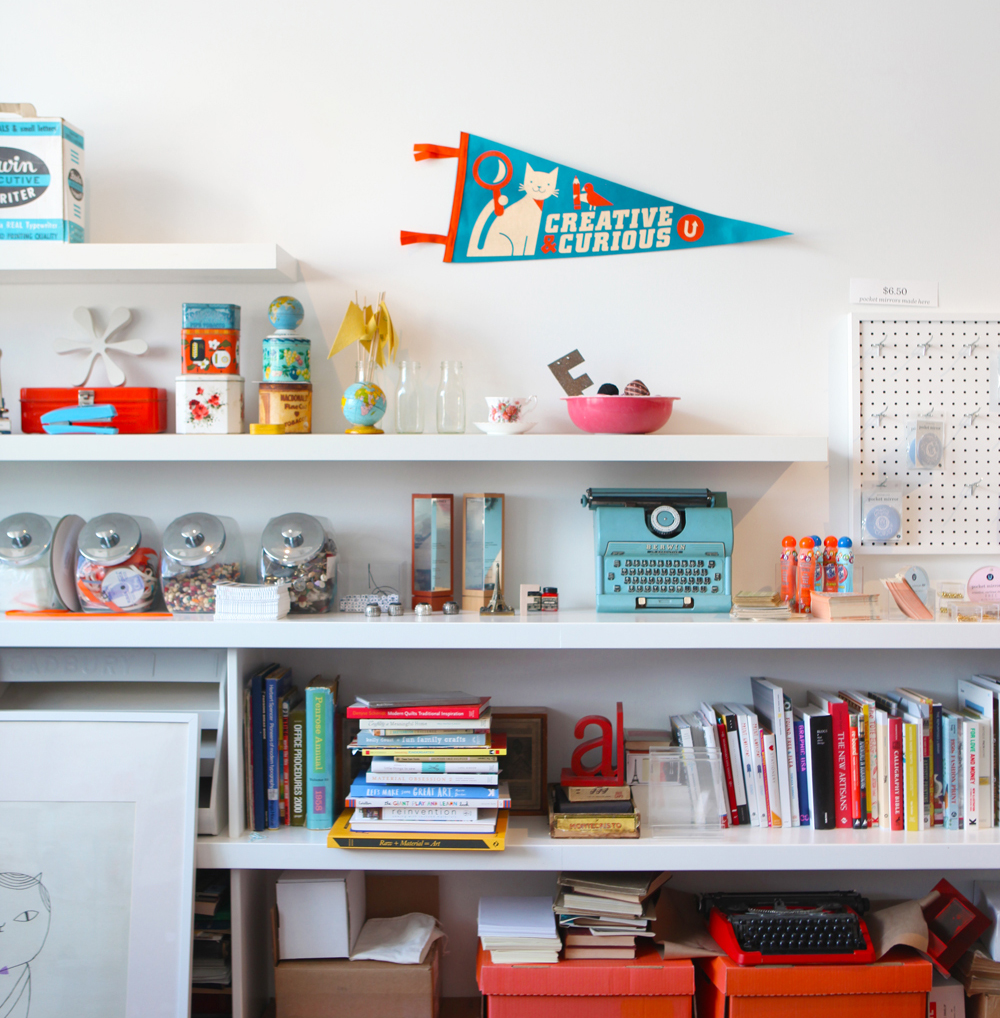 A pennant on display in the UPPERCASE studio in Calgary. We'd love to see the pennant in your home or studio! Send us a picture by email or instagram.