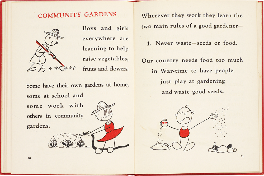 Double-page spread from A War-Time Handbook for Young Americans (1942)