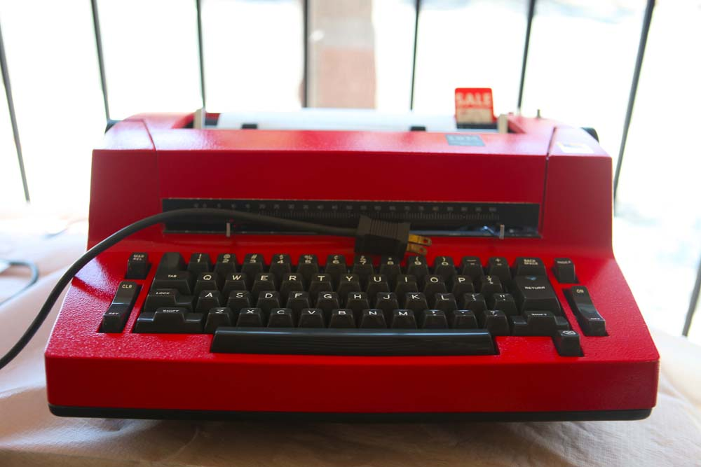A Selectric in non-original red paint.
