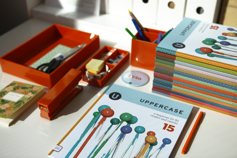 Two fun things to unpack this week: UPPERCASE #15 and our new desk accessories from Poppin.