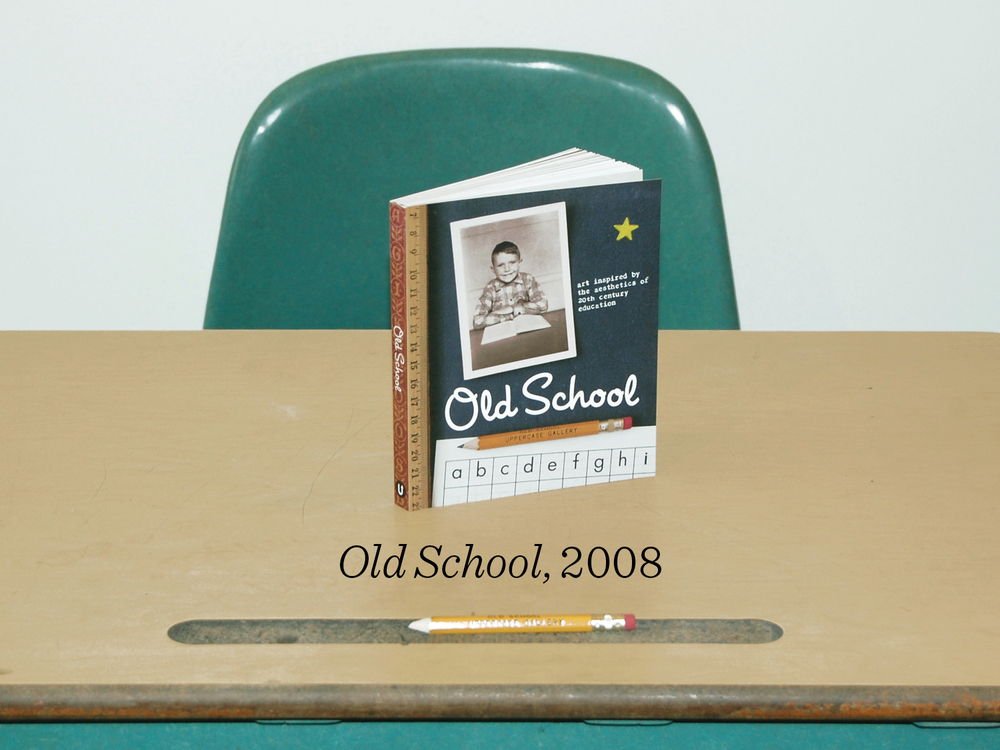 12) Old School is a publication of art inspired by the aesthetics of 20th century education. I sent dozens of artists and illustrators packs of old flash cards and papers to use as inspiration in their work along with their own personal mementos. The book was packaged with a pencil and old school eraser. Artists created sculpture, prints, paintings and collages based on their own elementary school experiences.