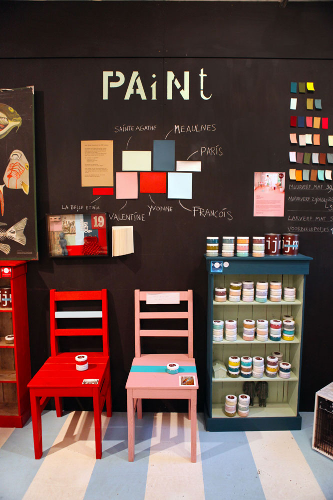 Het Grote Avontuur sells IJM paint, some beautifully curated colours of interior paint. There are even special colours selected by Anna.