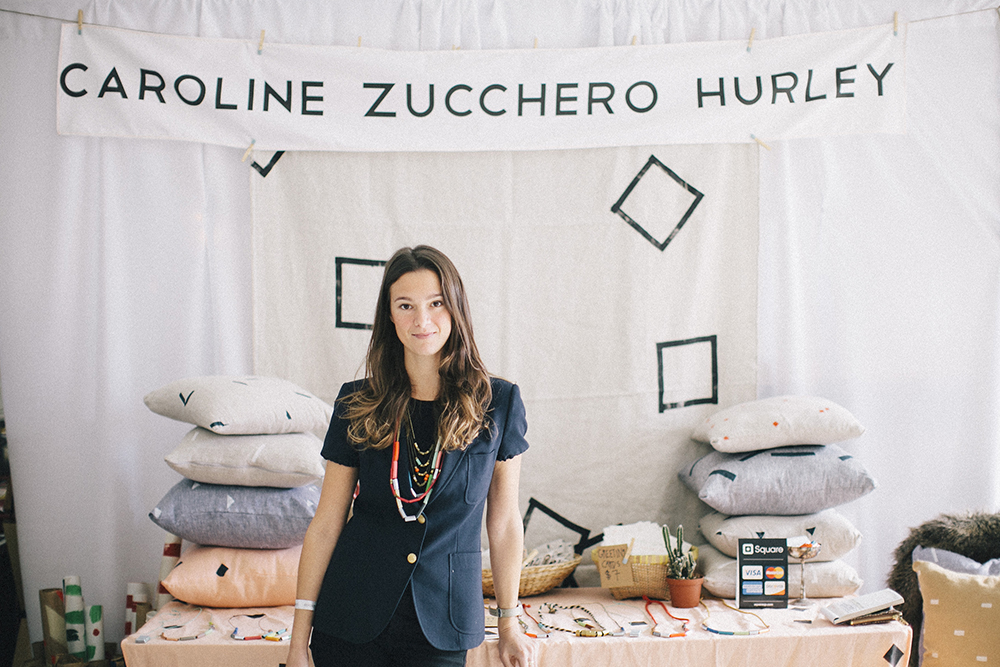 The lovely  Caroline Zucchero Hurley  and her truly special jewelry and painted fabrics. I'm very much looking forward to sharing more details of her work with you this week.