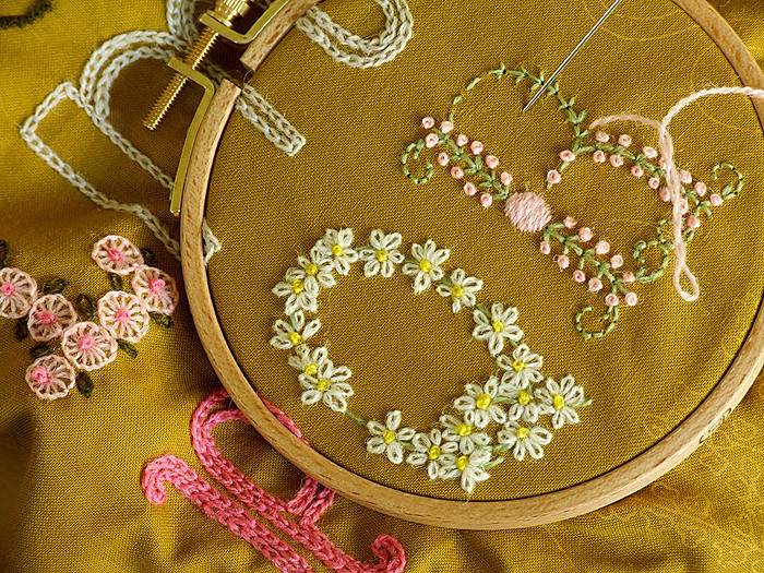Daisychain ABC sampler by Alicia Paulson