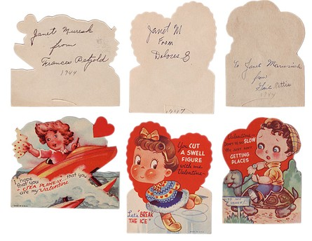 With the patina of age and personal handwriting, the back of a valentine can be more beautiful and sentimental than its showy front.