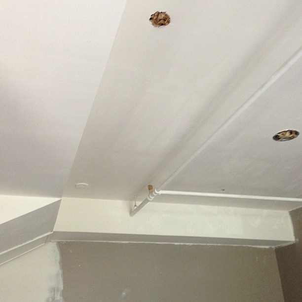 Happy that the ugly popcorn effect on the ceiling was smoothed away.