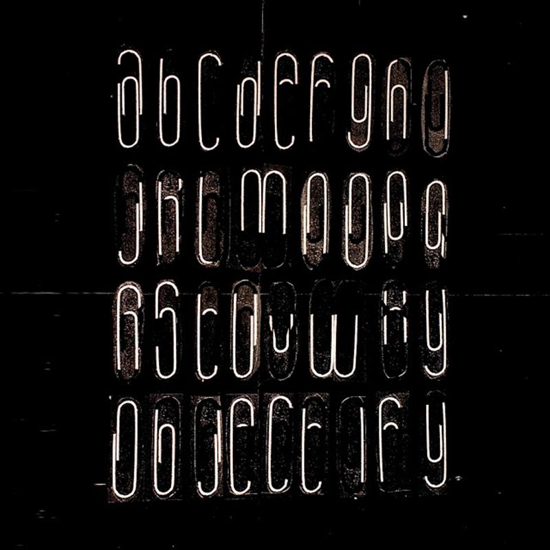 Teo Menna paperclips alphabet
