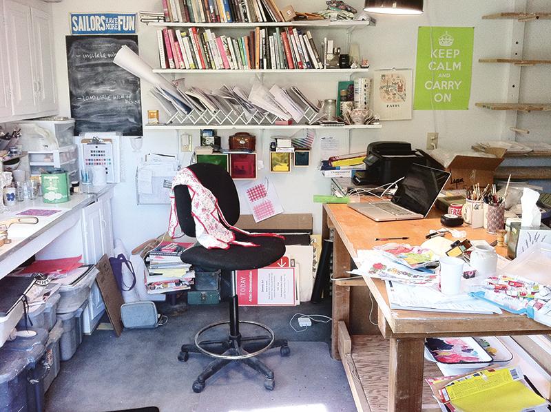 Molly's studio.