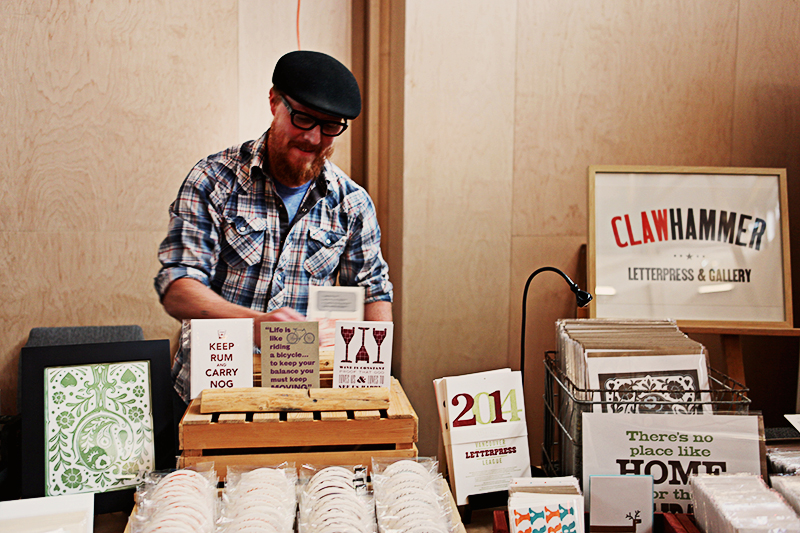 Michael from Clawhammer Letterpress came all the way from BC.