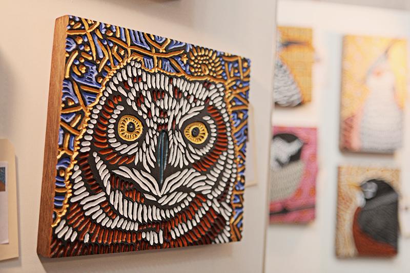 Woodcuts by Lisa Brawn.
