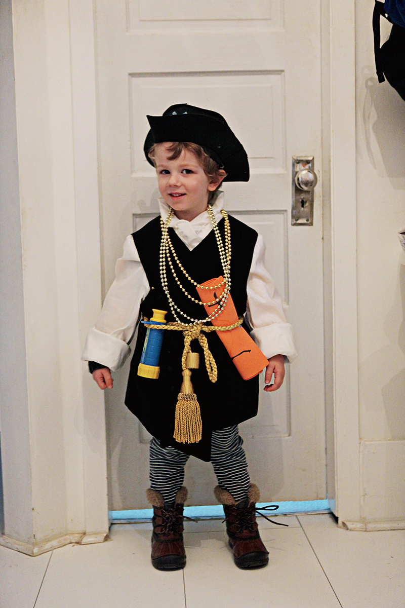 For actual trick or treating, he was the nicest pirate.