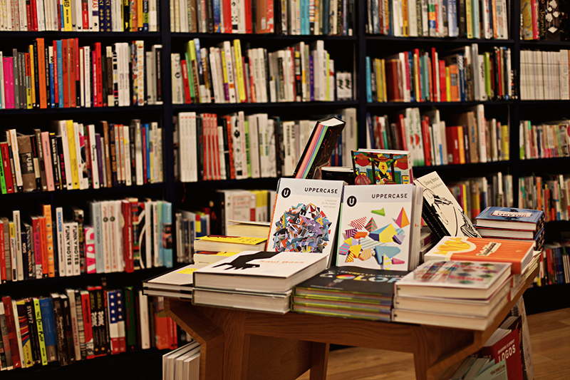 A thrilling moment, to see UPPERCASE so prominently featured in Kinokinuya's New York store.