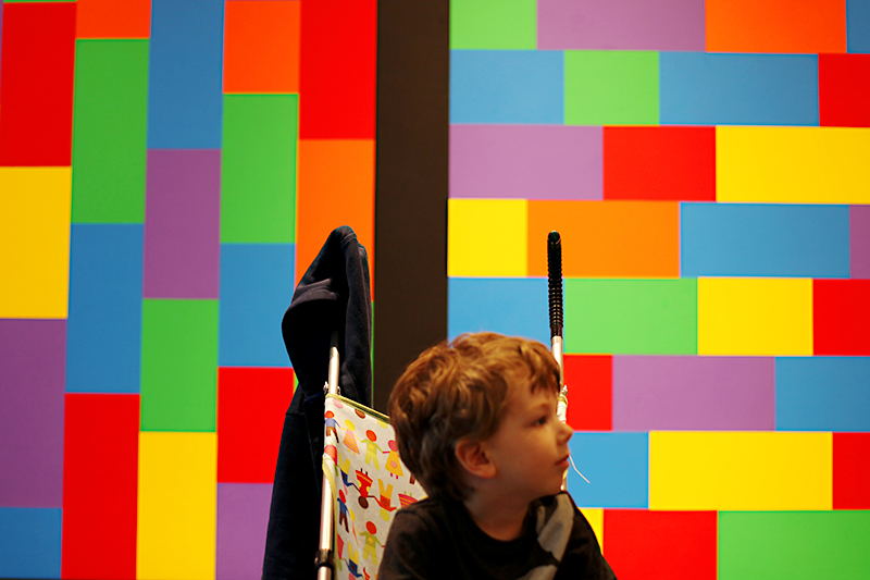 "The ""Lego"" pattern artwork at MOMA."