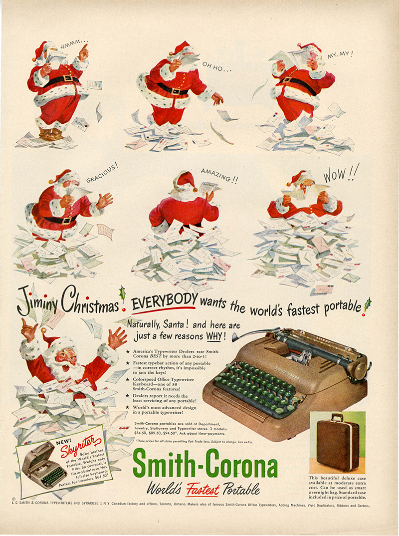 make it an old-fashioned typewriter Christmas — UPPERCASE