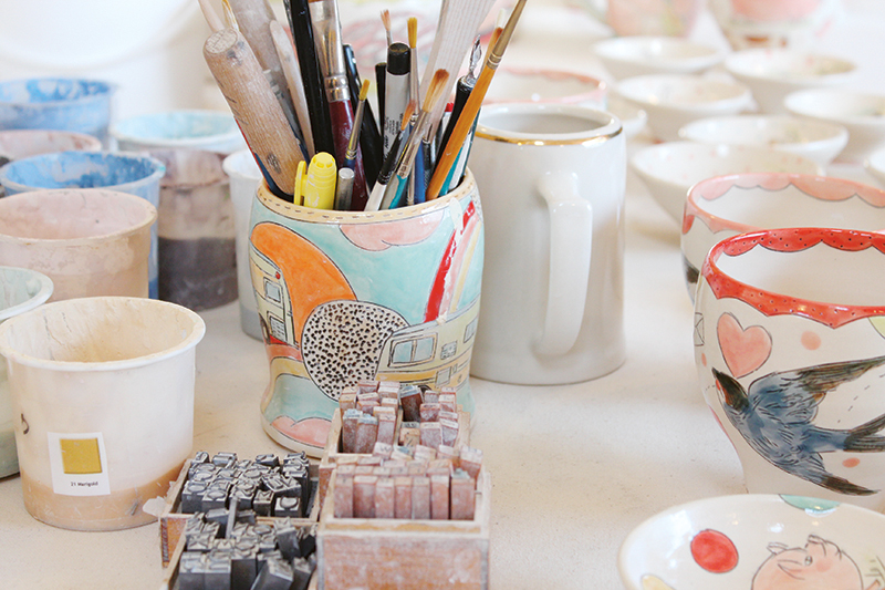 Photos of Mariko Paterson's workspace taken by Jessika Hepburn.