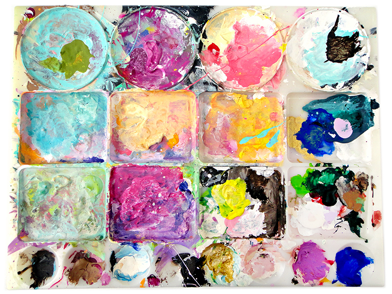 Shae Leviston's paint palette
