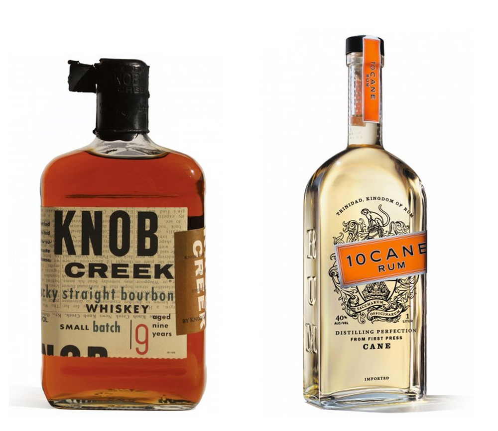 Some iconic spirits packaging. Knob Creek was produced while Sharon was at Duffy Design Group.