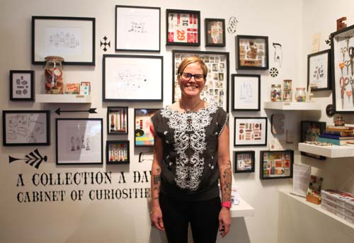 Here's Lisa at the opening and book launch for A Collection a Day at The Curiosity Shoppe in San Francisco.