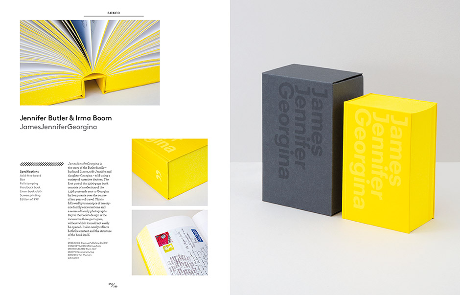 Sample spread from  Collector's Edition, Innovative Packaging and Graphics  by  Stuart Tolley