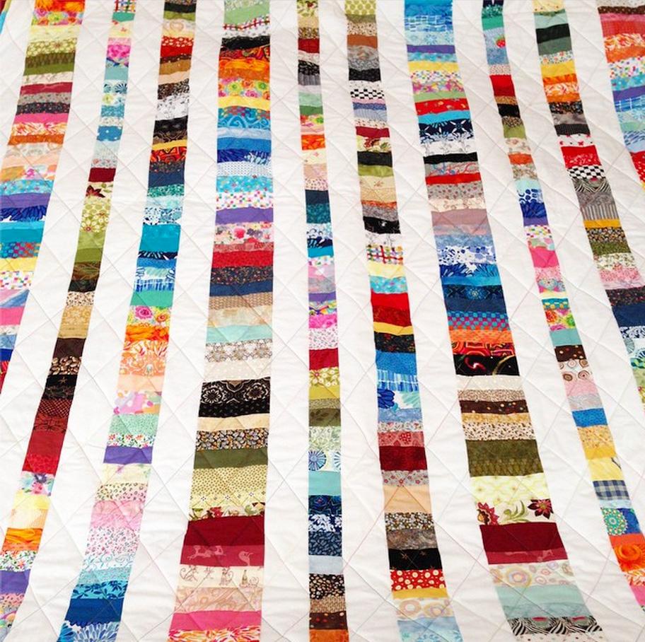 Scrap quilt by my mom, Bonnie Vangool.
