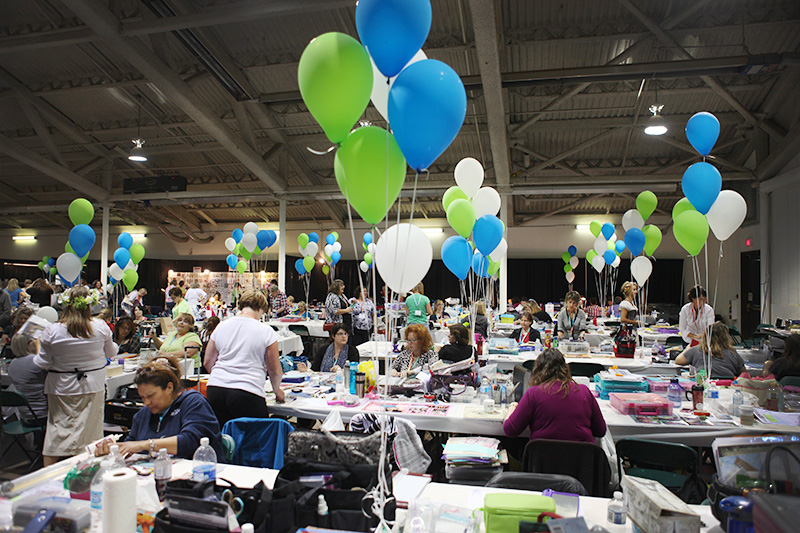 Carnival participants bring their own supplies to work on their books, but lots of vendors are close at hand to inspire ideas and tempt wallets.