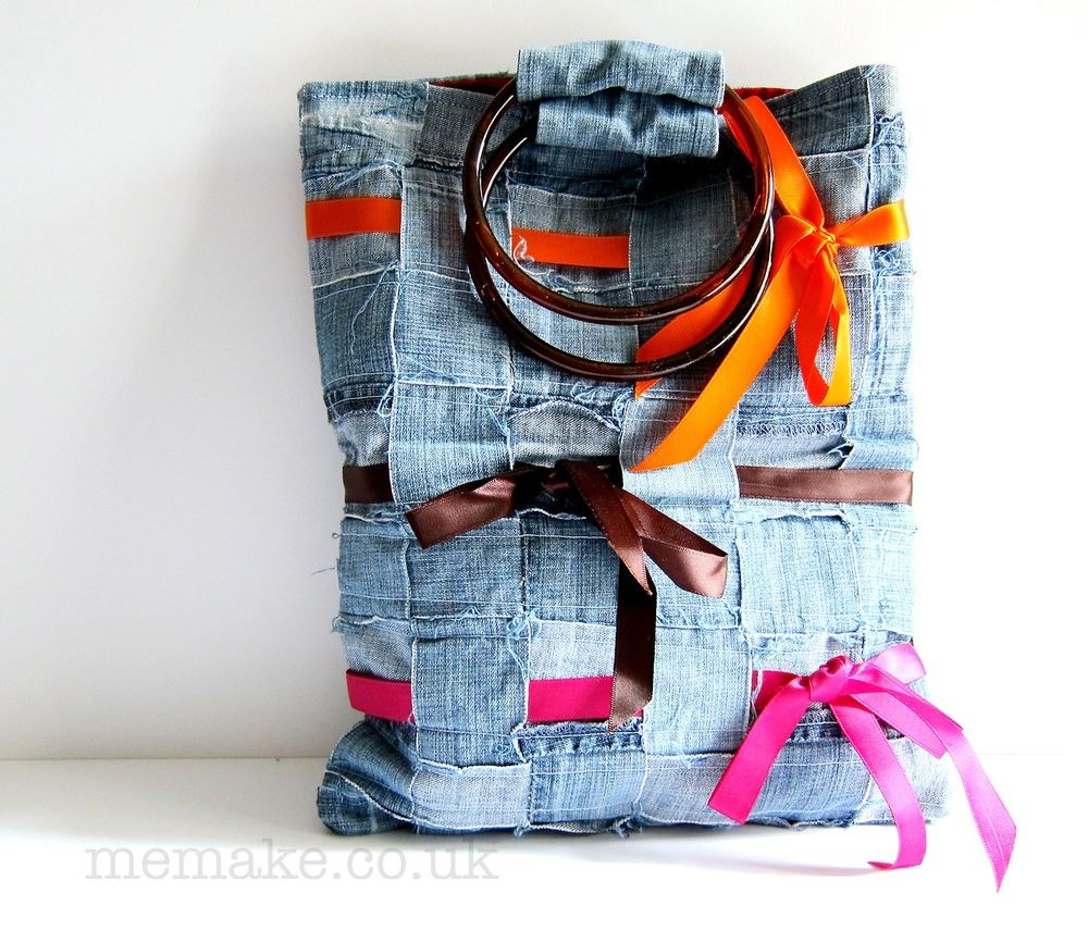 Denim bag made by UPPERCASE reader Jane Bernstein.