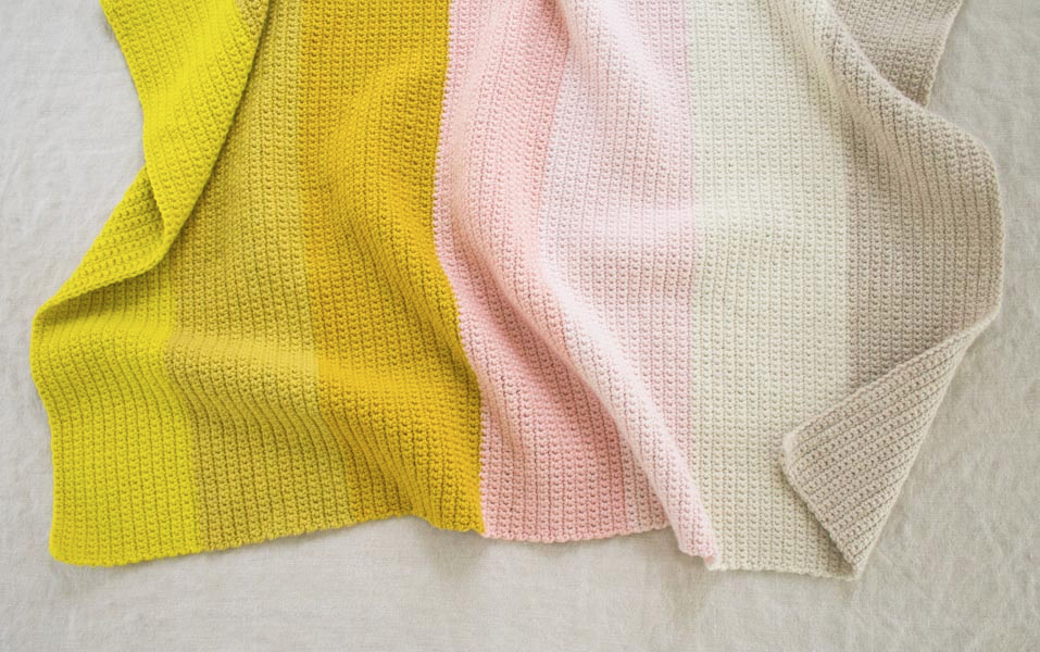 Purl Soho's crocheted  Super Easy Baby Blanket