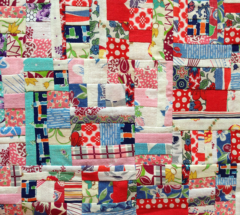 Feedsack quilt block by reader Lisa Courtnage