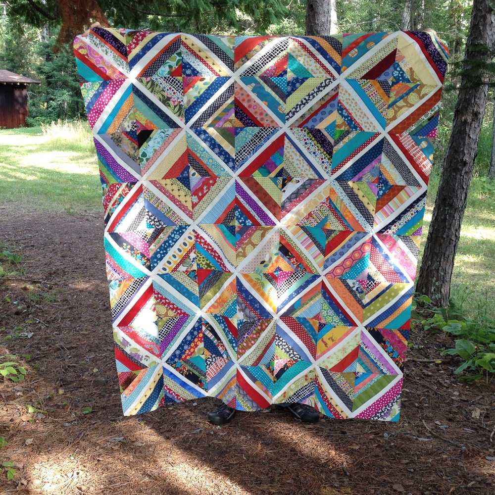 Linzee's string-pieced quilt