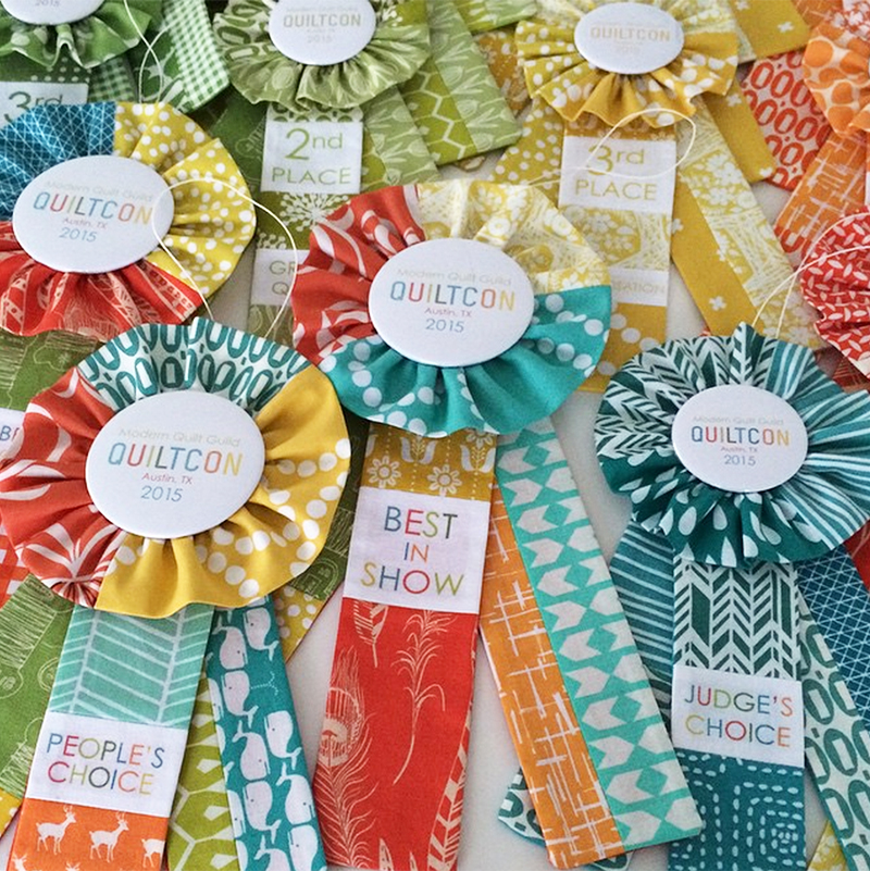 Rosettes made by   Elizabeth Hartman