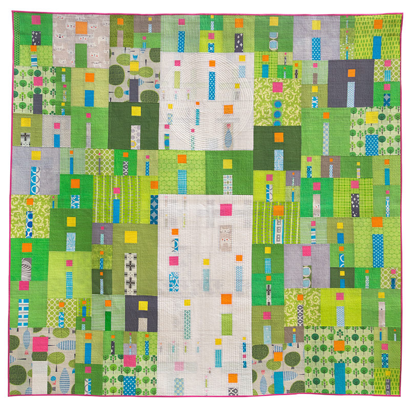 "Best in Show: ""i Quilt"" pieced and quilted by Kathy York from Austin, Texas. Image courtesy the QuiltCon website."