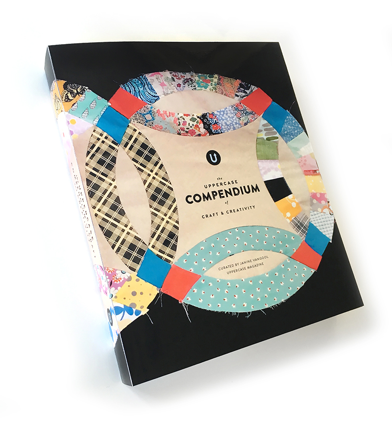 The main cover, which will have a gloss lamination for a nice, rich black, is by quilter Siobhan Rogers.