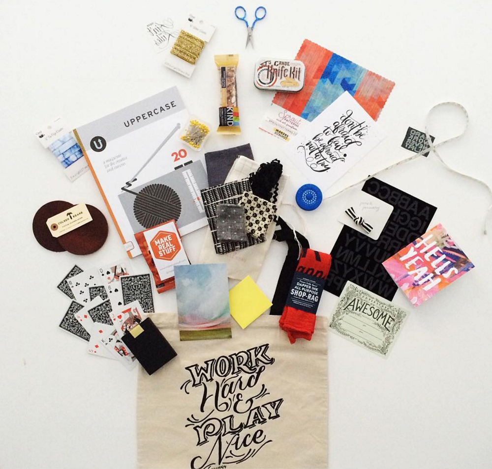 UPPERCASE donated magazines for the Makers Summit goody bags. Photo from the Makers Summit Instagram.