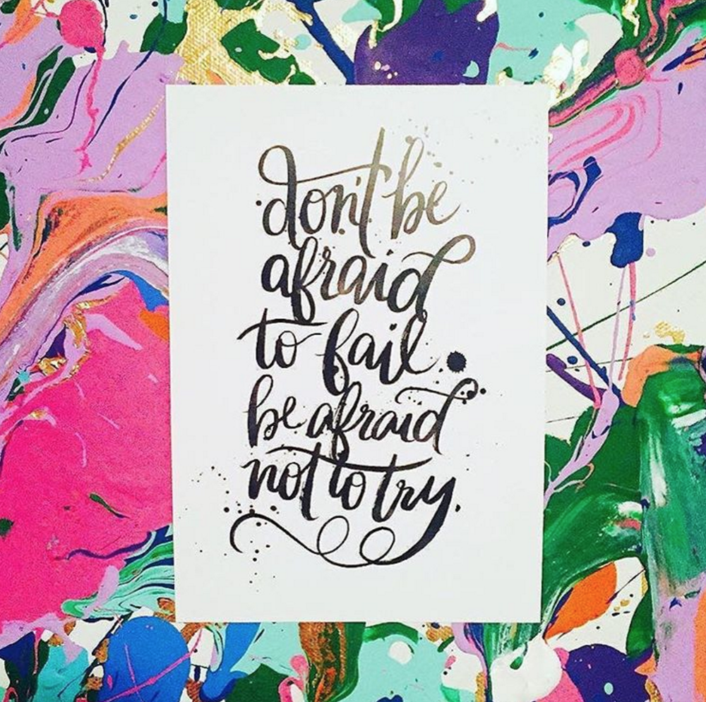 Lettering print by @jennyhighsmith from the goody bag. Photo by @kukajuice.